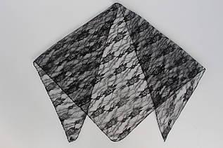 Ритуальная черная косынка 201002