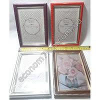 S262 Рамка для фото пластик со стеклом (10 х 15 см)