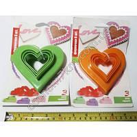 S336 Формочки для выпечки сердечки 3 шт (цена за упаковку)