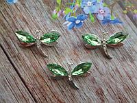 """Клеевой декор """"Стрекоза"""", 20х30 мм, цвет светло-зеленый, фото 1"""