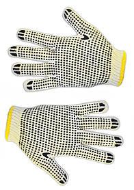 Перчатки двухсторонние Technics вязанные с точечным ПВХ (16-003)