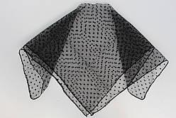 Хустка ритуальна чорна 502-3