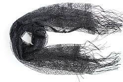 Шарф павутинка чорний 501-3