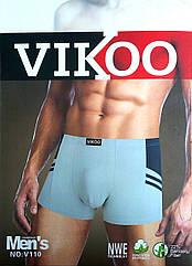 Трусы боксеры мужские Vikoo хлопок + бамбук №44 красивое бельё ТМБ-18111