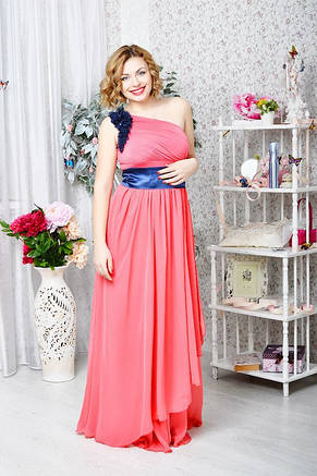 Вечернее платье в пол на одно плечо, фото 2