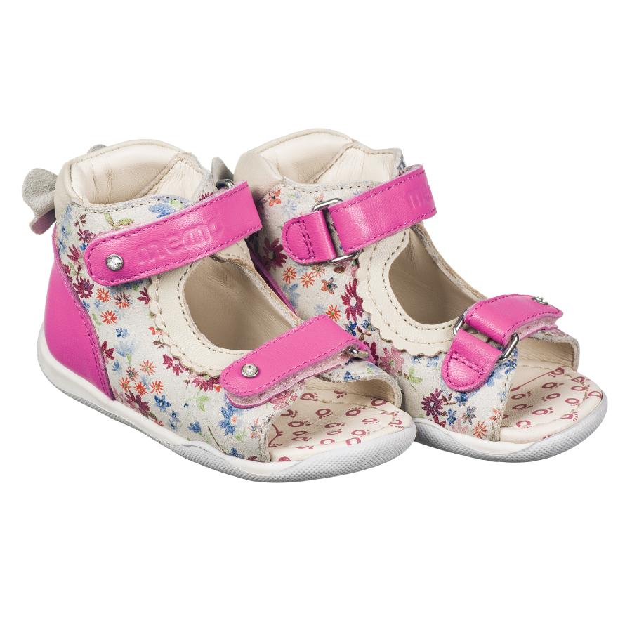 Детские ортопедические босоножки Memo Mini 1JB Розовые