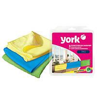 Набор салфеток из микрофибры 3 шт York HIM-Y-026110