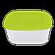 Контейнер для пищевых продуктов 0,93 л квадратный с разноцветными крышками Алеана 167013, фото 3
