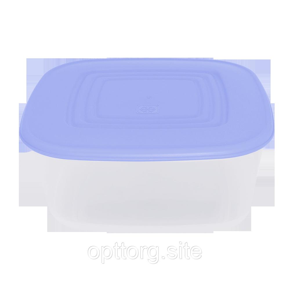 Контейнер для пищевых продуктов 0,93 л квадратный с разноцветными крышками Алеана 167013
