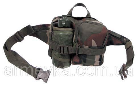 Набедренная сумка в комплекте с флягой, woodland