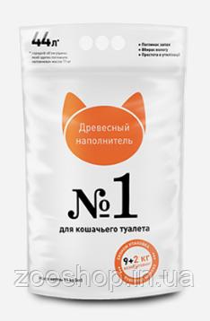 Наповнювач туалетів SuperCat для котів №1 деревне 9+2 кг
