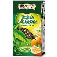 Чай зеленый листовой Big-Active с апельсином 100гр