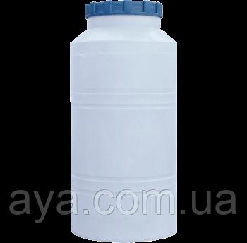 Бочка для воды вертикальная круглая белая  250 (л)