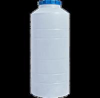 Бочка для воды вертикальная круглая белая  400 (л)