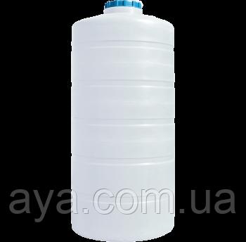 Вертикальная емкость круглая белая 1500 (л)