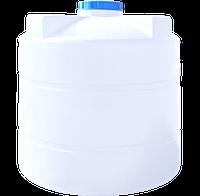 Вертикальная емкость круглая белая  3500 (л)