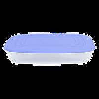 Контейнер для пищевых продуктов 0,95 л прямоугольный с разноцветными крышками Алеана 167023