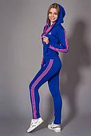 Женский молодежный спортивный костюм. Код модели КС-14. Цвет электрик с розовым.