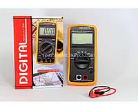 Цифровой мультиметр для измерения Digital DT CM 9601 пластик, 800 Гц, 10 мкФ, от 9 В батарейки, монохромный ЖК экран