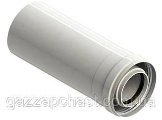 Удлинитель коаксиального дымохода для конденсационных котлов 0,5 метра, 60/100 (801009)
