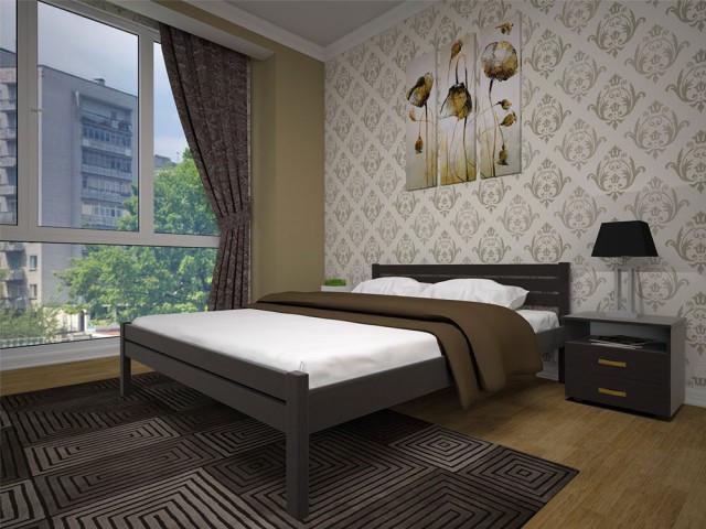 Ліжко з натурального дерева Класика 140*200