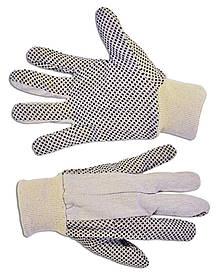 Перчатки рабочие Technics ХБ с точечным вкраплением ПВХ (16-050)