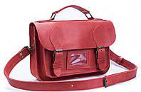 Стильная кожаная сумка   Женский портфель через плечо