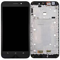 Дисплей для Asus ZenFone Max (ZC550KL) с тачскрином и рамкой черный Оригинал