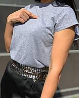 Базовая футболка для кормления, кормящих, беременных,гв светло серая