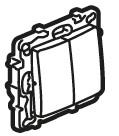 ETIKA Вимикач / Перемикач 2-клавішний з автоматичними клемами Алюміній