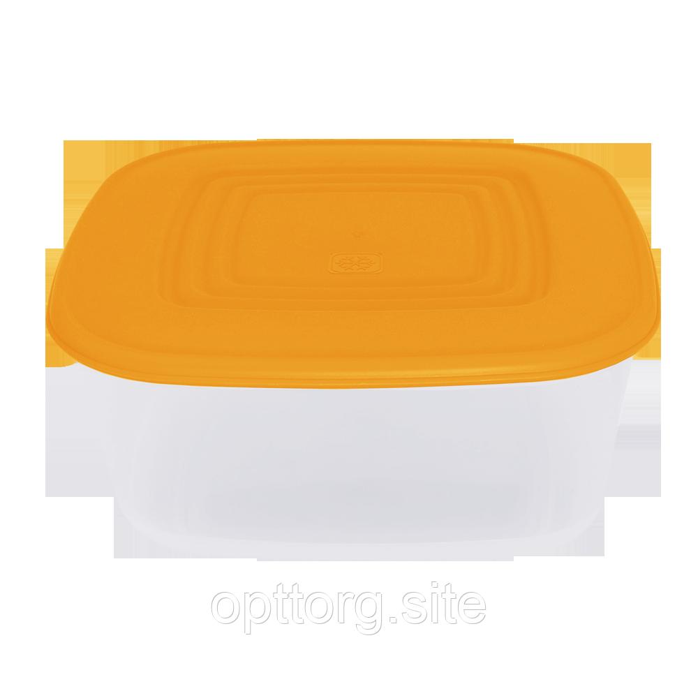 Контейнер для пищевых продуктов 1,88 л квадратный с разноцветными крышками Алеана 167014