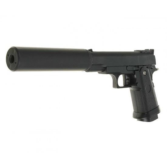 Пистолет пневматический страйкбольный Galaxy G10A Mini  с глушителем