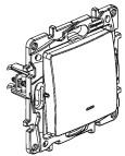 ETIKA Вимикач / Перемикач з підсвіткою з автоматичними клемами Алюміній