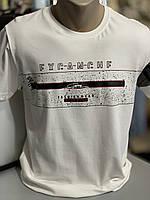 Стильная молодежная мужская футболка. Молочного цвета. Турция.