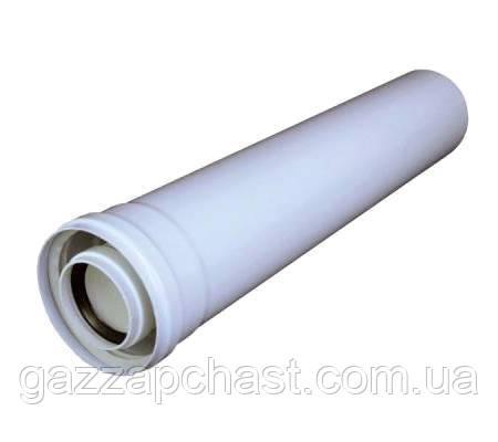 Удлинитель коаксиального дымохода для конденсационных котлов 1метр, 60/100 (801011)