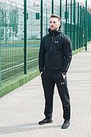 Черный брендовый спортивный костюм Армор | Трикотажный мужской спортивный костюм весна-осень, фото 1