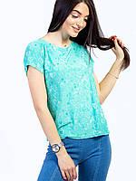 🌺 Базовая футболка женская фактурная, фото 1