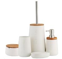Набор аксессуаров для ванной комнаты WELLESS CERAMIKA BAMBOO