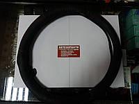 Чехол на руль 39-41 см. кожаный с красной строчкой