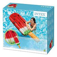 Intex 58751 Надувной Плотик Эскимо Арбуз 191х76см