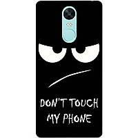 Силиконовый чехол бампер для Xiaomi Redmi Note 4x с рисунком Dont touch