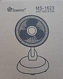 Вентилятор настольный на прищепке  Domotec MS-1623, 2 режима, фото 2