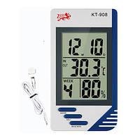 Гигрометр КТ-908 термометр часы будильник