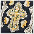 Библия в кожаном переплете с декоративными позолоченными и посеребренными накладками, фото 4