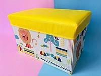 """Мини Бокс-пуфик для игрушек """"Лев и слон"""" Bambi, фото 1"""