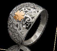 Кольцо из серебра и золота Юрьев 252к 17.5