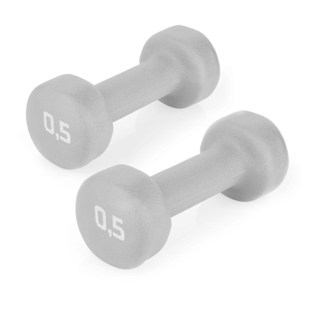 Гантели для фитнеса 2х0,5 кг Spokey SHAPE IV (original) виниловое покрытие