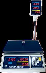 Електронні ваги торгові Днепровес, 15 кг ВТД-15РС, з портом RS232