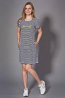 Молодежное платье в полоску. Код модели Л-32-36-15.