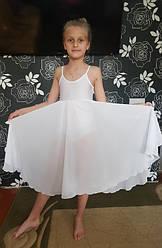 Купальник- платье для бальных танцев с шифоном 3